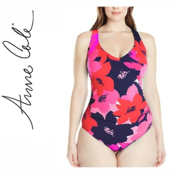 170f6f42bf418 Anne Cole Swim | Womens Plus Size Full Bloom V Neck | Poshmark